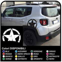 stickers STAR BROKEN for the rear jeep renegade worn effect stickers new Jeep Renegade top Quality