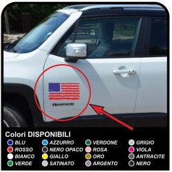 adhesives for door American Flag worn effect for a jeep wrangler off-road vehicles and suv's Skull Willys Tuning rally