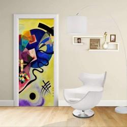Adhésif Conception de la porte - Kandinsky, Jaune, Rouge et Bleu KANDINSKY, Jaune, Rouge Et Bleu Décoration adhésif pour portes