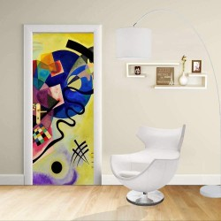 Adhesive door Design - Kandinsky Yellow Red and Blue KANDINSKY Yellow, Red & Blue Decoration adhesive for doors and home