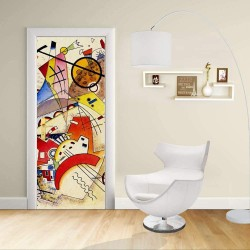 Adesivo Design porta - Kandinsky Animali - KANDINSKYJ Animals Decorazione adesiva per porte arredo casa