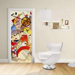 Adhésif Conception de la porte - Kandinsky Animaux - KANDINSKYJ Animaux de Décoration adhésif pour portes et meubles pour la