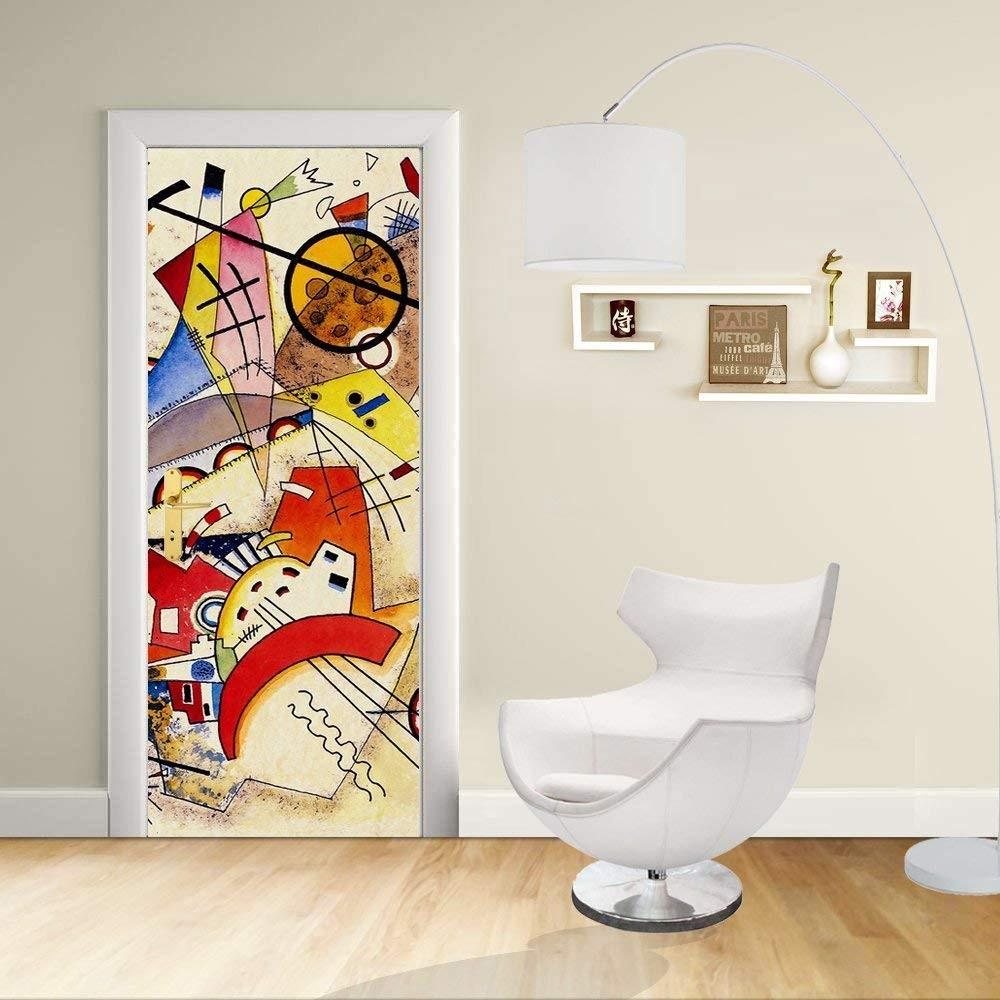 Adesivi In Vinile Per Porte.Adesivo Design Porta Kandinsky Animali Kandinskyj Animals Decorazione Adesiva Per Porte Arredo Casa