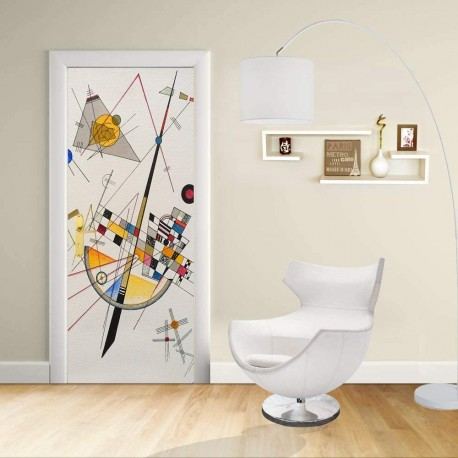 Adhesive door Design - Kandinsky Voltage delicate - Delicate Tension-Decoration adhesive for doors and home furniture