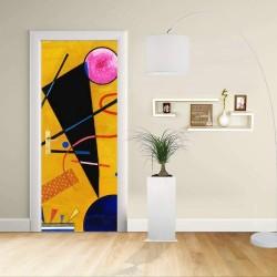 Adesivo Design porta - Kandinsky Contatto - Contact Decorazione adesiva per porte arredo casa