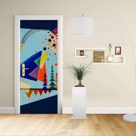 Adhésif Conception de la porte - Kandinsky les Trois Sons - KANDINSKYJ Décoration adhésif pour portes et meubles pour la maison