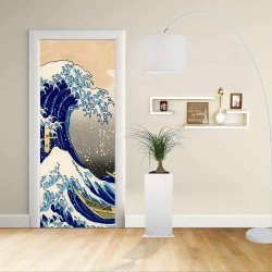 Adhesive door Design - The Great Wave of Kanagawa - HOKUSAI, The Great Wave of Kanagawa Decoration adhesive for doors