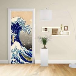 Adhesivo para el Diseño de la puerta - La Gran Ola de Kanagawa - HOKUSAI, La Gran Ola de Kanagawa Decoración adhesiva para