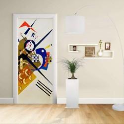 Adhesivo para el Diseño de la puerta - Kandinsky En Blanco II - KANDINSKYJ En Blanco II Decoración adhesiva para puertas y