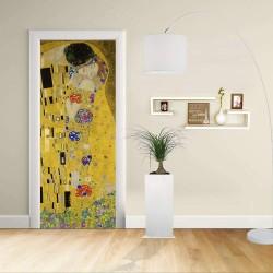 Adhésif Conception de la porte - Klimt: Le Baiser de Gustav Klimt, Le Baiser (Amateurs)Décoration adhésif pour portes