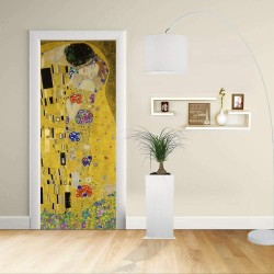 Adhesive door Design - Klimt The Kiss - Gustav Klimt The Kiss (Lovers)Decoration adhesive for doors