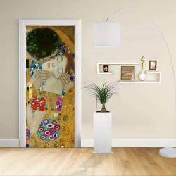 Adesivo Design porta - Klimt Il Bacio 2 - Gustav Klimt The Kiss (Lovers)Decorazione adesiva per porte