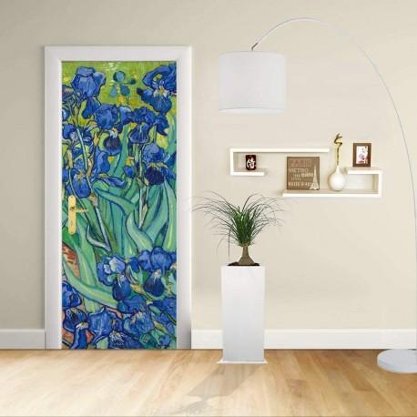 Adhesive door Design - Van Gogh Irises - Irises - Decorative adhesive for doors