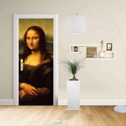 Adesivo Design porta - LEONARDO MONA LISA - LA GIOCONDA - Decorazione adesiva per porte