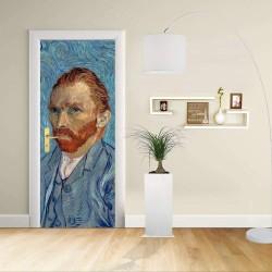 Adhésif Conception de la porte - Van Gogh - autoportrait - Décoratifs pour portes