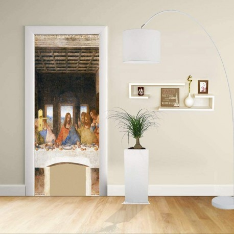 Adhesive door Design - LEONARDO - The LAST SUPPER - Decoration, adhesive for door