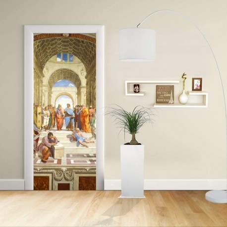 Adhesive door Design - RAPHAEL - SCHOOL OF ATHENS - Decoration, adhesive for door