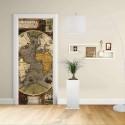 Adhesive door Design - Map Nautical Hondius cartography nautical Decoration adhesive for doors home furniture -