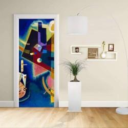 Adhésif Conception de la porte - Kandinsky Bleu - KANDINSKYJ En Bleu de la Décoration, de l'adhésif pour portes et meubles pour