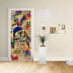 Adesivo Design porta - Kandinsky COMPOSITION VII - KANDINSKYJ  -Decorazione adesiva per porte arredo casa