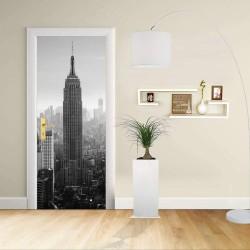 Adhésif de porte Design - New York - Manhattan, l'Empire State Building Décoration adhésif pour portes de meubles de maison -