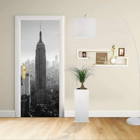 Adhesive door Design - New York - Manhattan Empire State Building Decoration adhesive for doors home furniture -