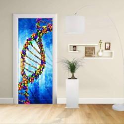 Adesivo Design porta - DNA - Decorazione adesiva per porte arredo casa -