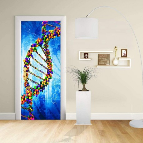 Adhesive door Design - the DNA - Decoration, adhesive for doors home furniture -