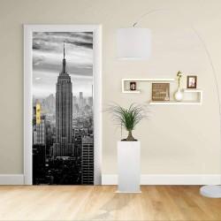 Adesivo Design porta - New York 1 - Manhattan Empire State Building - Decorazione adesiva per porte arredo casa -