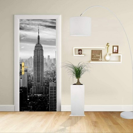 Adhesive door Design - New York 1 - Manhattan the Empire State Building - Decoration, adhesive for doors home furniture -