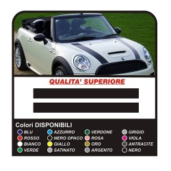 Stickers for mini cooper Stripes mini cooper Bonnet Stripes - adhesive strips bonnet