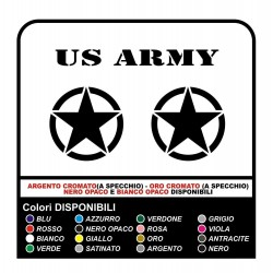 2 Stickers - Star Military US ARMY cm 40X40 US ARMY Jeep renegade Suzuki jeep land rover 4X4 - superior Quality
