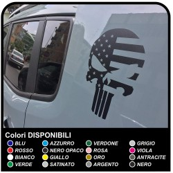 stickers Skull with the American Flag for the rear jeep renegade stickers Jeep new Renegade US ARMY Punisher