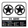 3 Autocollants Étoiles Militaire US ARMY cm 32 de l'ARMÉE américaine Jeep renegade Suzuki jeep land rover 4X4 - effet usé