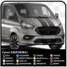 M-SPORT Adesivi bicolore Laterali e cofano Van grafiche furgone adesivi decalcomanie strisce custom turneo