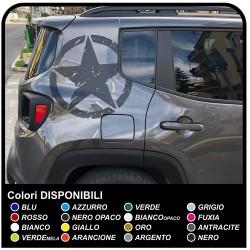 pegatinas de ESTRELLAS GRAN Efecto Desgastado en la parte trasera del jeep renegade pegatinas de nuevo Jeep Renegade EJÉRCITO