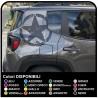adesivi STELLA GRANDE Effetto Consumato per montante posteriore jeep renegade stickers Jeep nuova Renegade US ARMY