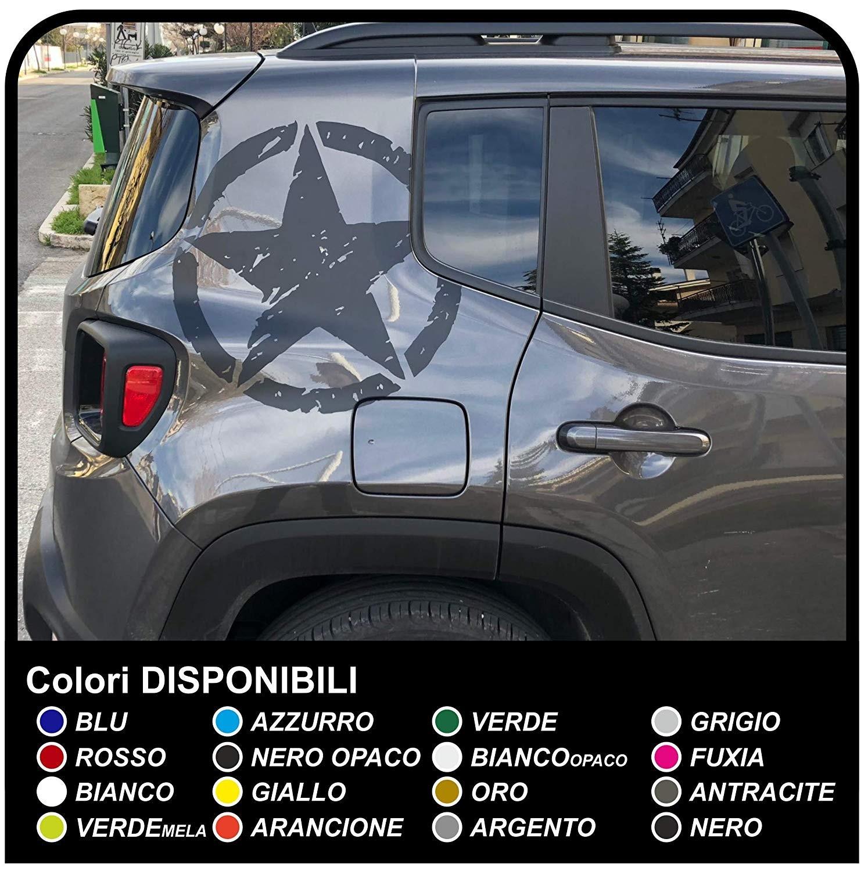 Adesivo Sticker Cofano Jeep nuova Renegade stella US ARMY Renegade decal