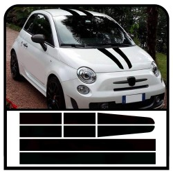 Adhesive strips bonnet, roof and boot lid assetto corse for fiat 500 stickers decal abarth