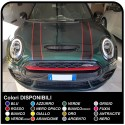 Stickers HOOD two-tone MINI COOPER S bands HOOD BACK VIPER adhesive strips mini cooper