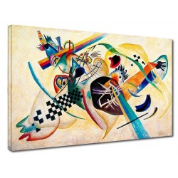 The framework Kandinsky - Composition-on-White - WASSILY KANDINSKY White composition Picture print on canvas with or without