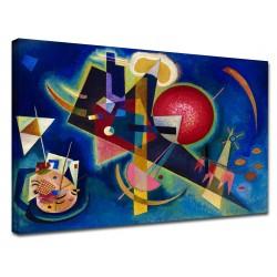 Le cadre Kandinsky - Bleu - WASSILY KANDINSKY, En Bleu, Peinture de l'impression sur toile, avec ou sans cadre