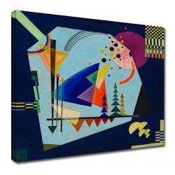 The framework Kandinsky - the Three Sounds - WASSILY KANDINSKY Three Sounds Picture print on canvas with or without frame