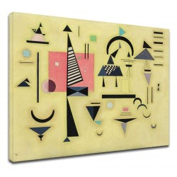 The framework Kandinsky - Pink-Decisive - WASSILY KANDINSKY, Decisive Rose Picture print on canvas with or without frame