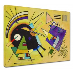 The framework Kandinsky - Black and Violet - WASSILY KANDINSKY Black and Violet Painting print on canvas with or without frame