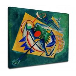 Le cadre Kandinsky - Ovale Rouge - WASSILY KANDINSKY-Rouge Ovale de la Peinture d'impression sur toile avec ou sans cadre