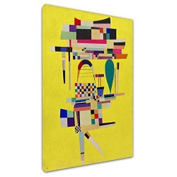 El marco de Kandinsky - Pintura de color Amarillo - WASSILY KANDINSKY Amarillo pintura de la Imagen de impresión en lona, con o