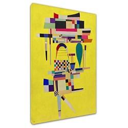 Le cadre Kandinsky Peinture Jaune - WASSILY KANDINSKY peinture Jaune impression d'Image sur la toile, avec ou sans cadre