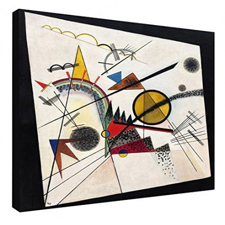 The framework Kandinsky - In the Black Square - WASSILY KANDINSKY In the Black Square Painting print on canvas with or without