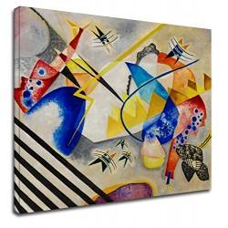 El marco de Kandinsky - Centro Blanco - WASSILY KANDINSKY Blanco del Centro de la Pintura impresión en lienzo con o sin marco